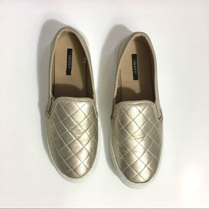 Shoes - Used Once - Mettalic Gold Slides